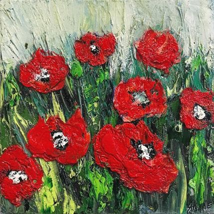 Shahine Red coquelicots 19 x 19 cm