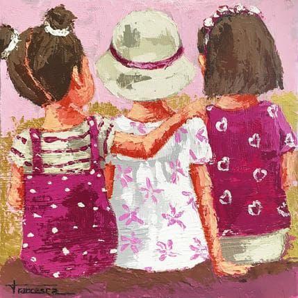 Francesca Escobar Pink colour 36 x 36 cm