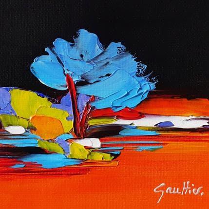 Dominique Gaultier L'arbre bleu 13 x 13 cm