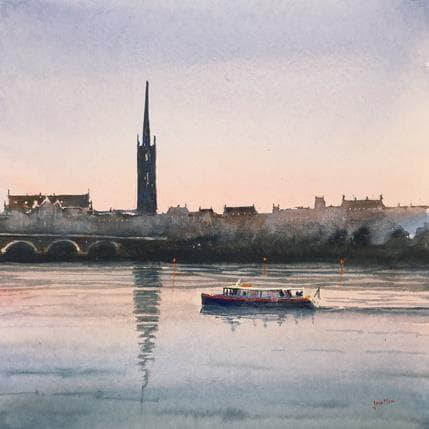 Jan Min Bordeaux, nightfall 36 x 36 cm