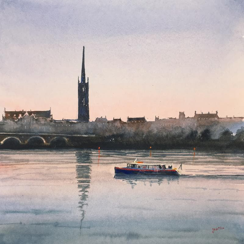Bordeaux, nightfall