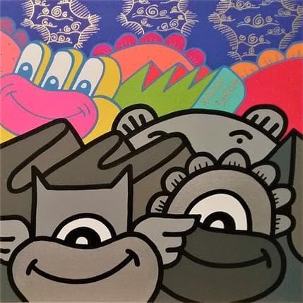 Hank China Arrière plan de couleur 36 x 36 cm