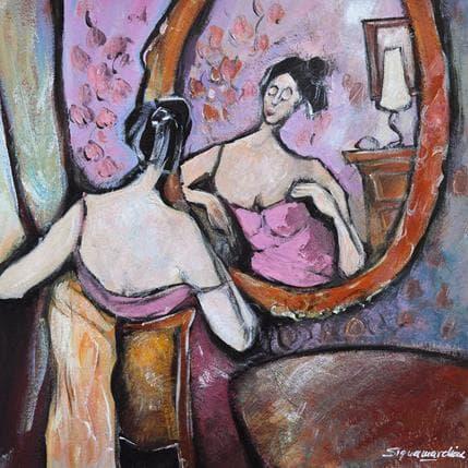 Bernard Signamarcheix Devant le miroir 36 x 36 cm