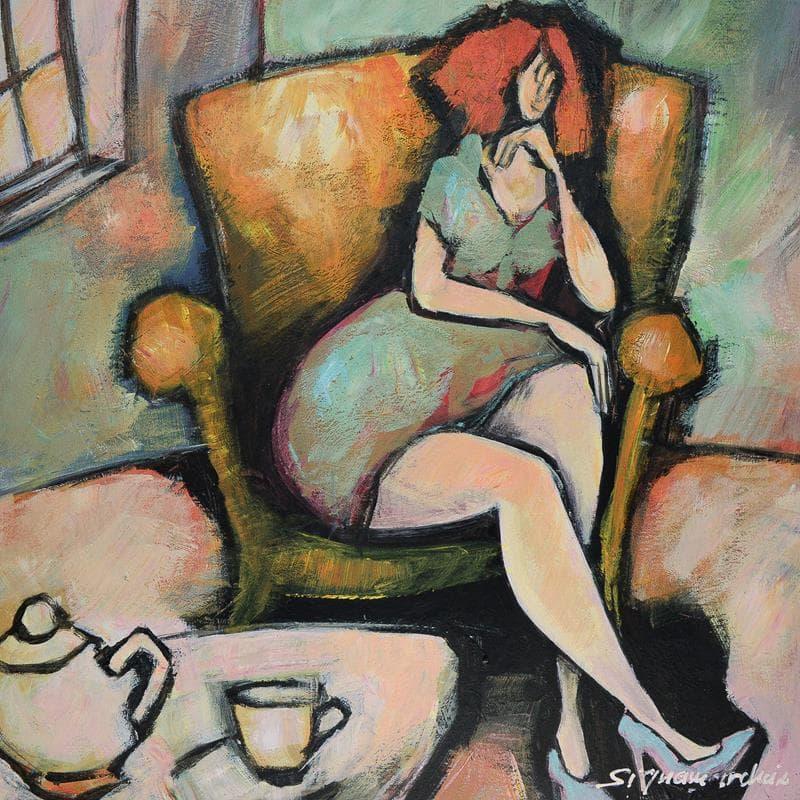 Femme dans son fauteuil
