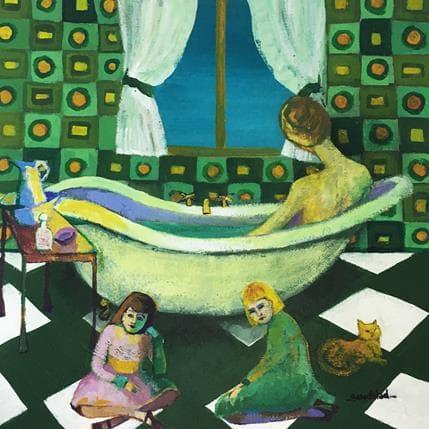 Silvina Sundblad La baignoire 25 x 25 cm