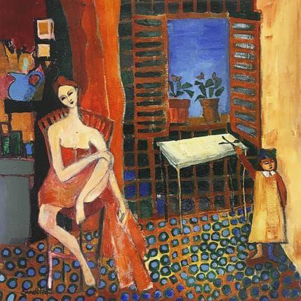 Silvina Sundblad Dans la salle de bain 36 x 36 cm