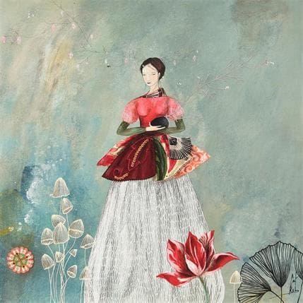 Catherine Rebeyre PETITE GRAINE A LA TULIPE 36 x 36 cm