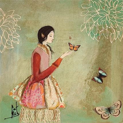 Catherine Rebeyre RENCONTRE EPHEMERE 2 13 x 13 cm