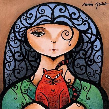 María Griñó Red cat 13 x 13 cm