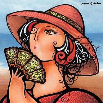 María Griñó Woman with fan 2 19 x 19 cm