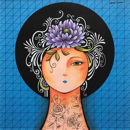 María Griñó Blue fantasy 36 x 36 cm