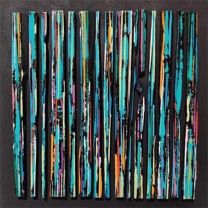Luc Langeron BC15 impression bleu vert 36 x 36 cm