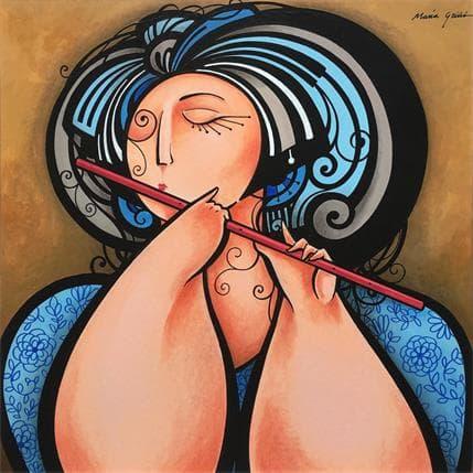 María Griñó Flautist 2 36 x 36 cm