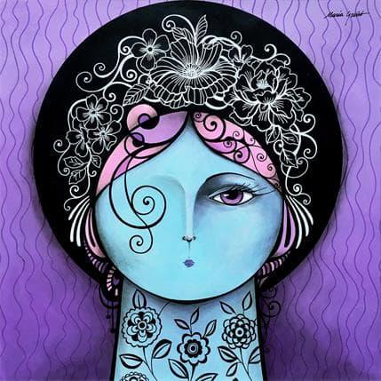 María Griñó Lilac fantasy 36 x 36 cm