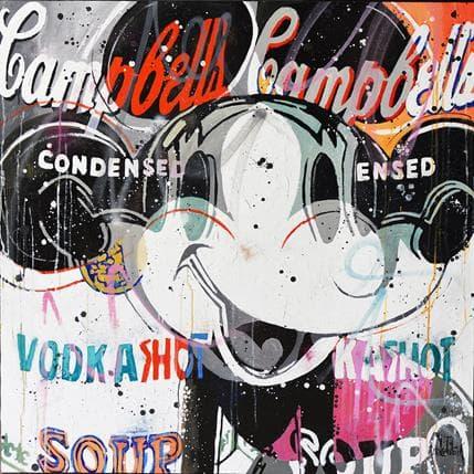 Patrick Cornée MICKEY LIKES VODKA GREY VERSION 120 x 120 cm