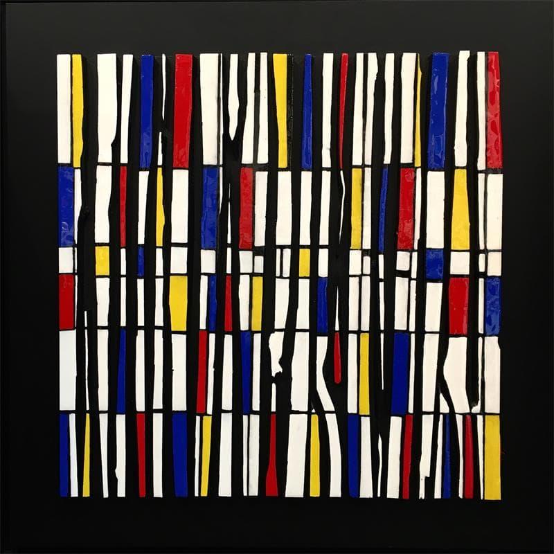 Bande color 21 -Hommage à Mondrian