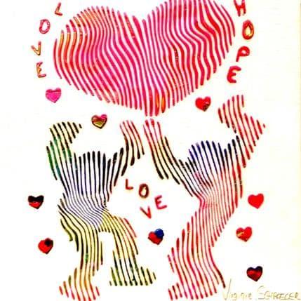Virginie Schroeder Hommage à Keith Haring 19 x 19 cm