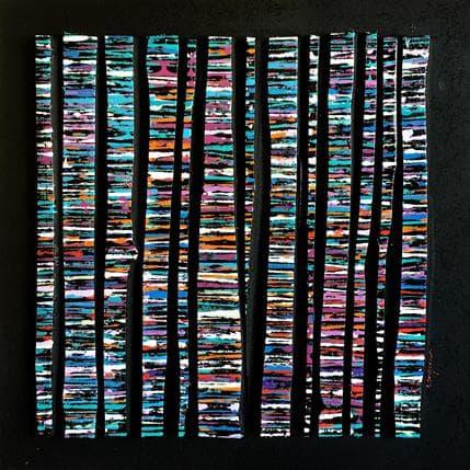 Luc Langeron BC13 - Fine bleu multi mauve 36 x 36 cm