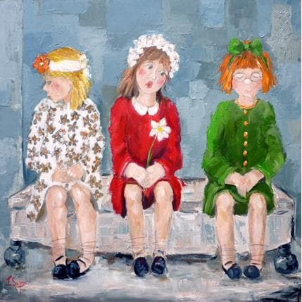 Françoise Soizeau Petites boudeuses 80 x 80 cm