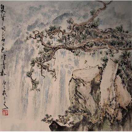 Sanqian Watching Waterfall 36 x 36 cm