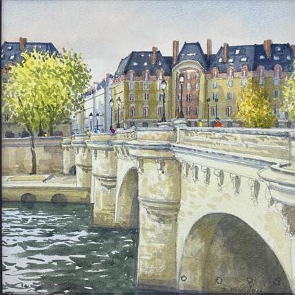 Jean-Charles Decoudun Le Pont Neuf rive gauche 25 x 25 cm