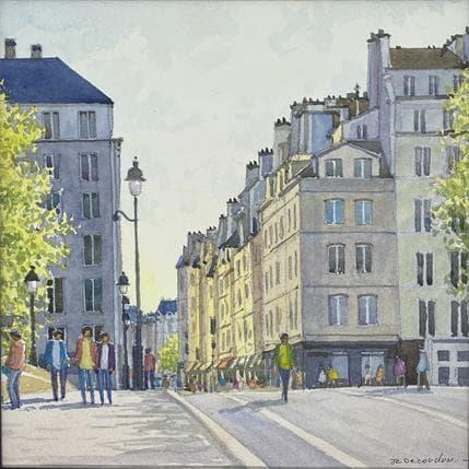 Jean-Charles Decoudun l'Île Saint-Louis  25 x 25 cm