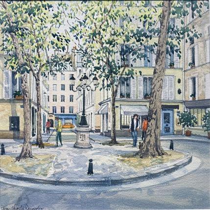 Jean-Charles Decoudun Sans Titre 36 x 36 cm