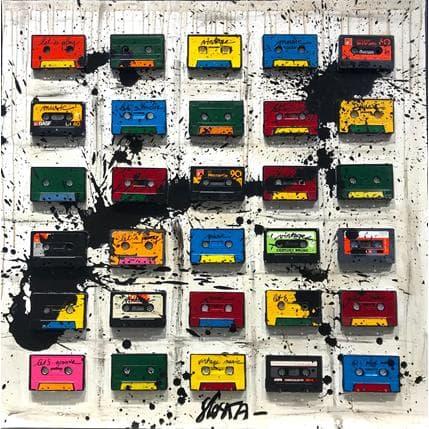 Sophie Costa Audiotape mania 80 x 80 cm