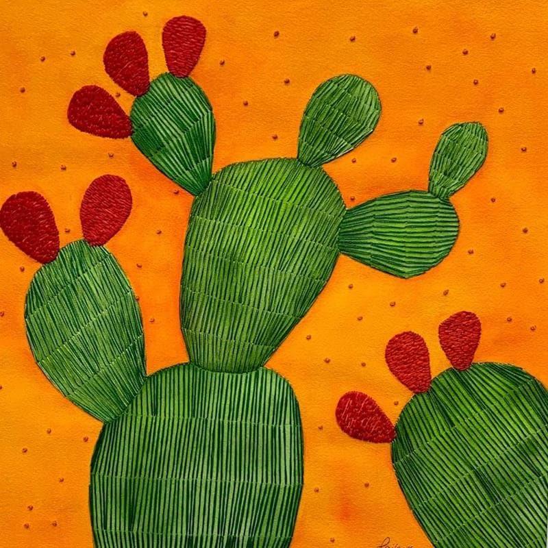 cactus with orange stars