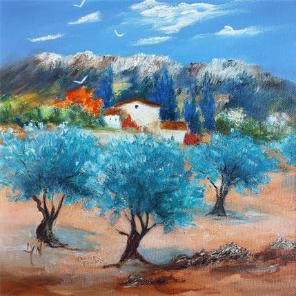 Lyn Paysage du Vaucluse 25 x 25 cm