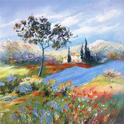 Lyn Coteau en fleurs 36 x 36 cm