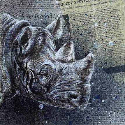 Sam Guillemot Tatoo rhino 25 x 25 cm