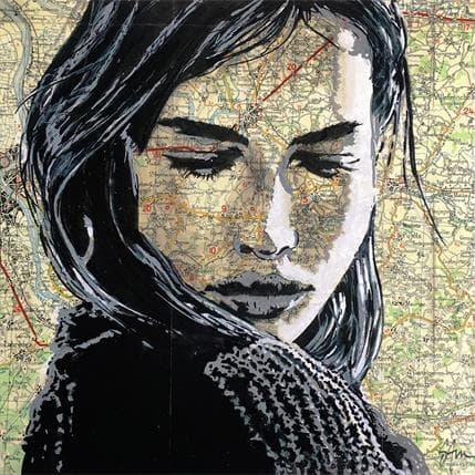 Sam Guillemot La voyageuse 25 x 25 cm