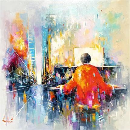 Franck Hébert MUSIQUE SUR LA VILLE 80 x 80 cm