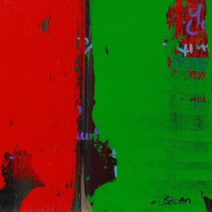 Carole Becam  Bandes Colorées n°48 13 x 13 cm