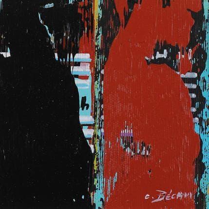 Carole Becam  Bandes Colorées n°50 13 x 13 cm