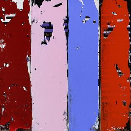 Carole Becam Bandes Colorées n°61 25 x 25 cm
