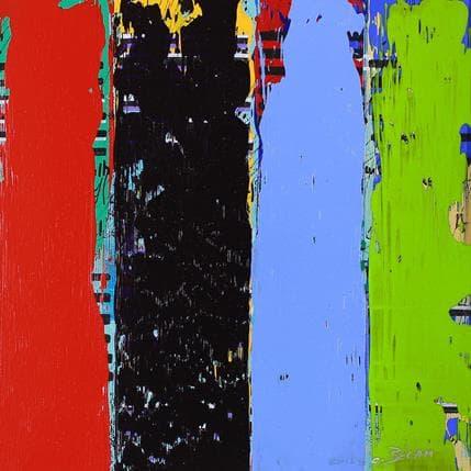 Carole Becam Bandes Colorées n°62 25 x 25 cm