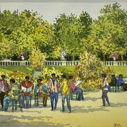 Jean-Charles Decoudun Paris, jardins du Luxembourg 19 x 19 cm