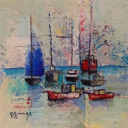 Roger Burgi LA VOILE BLEUE 13 x 13 cm