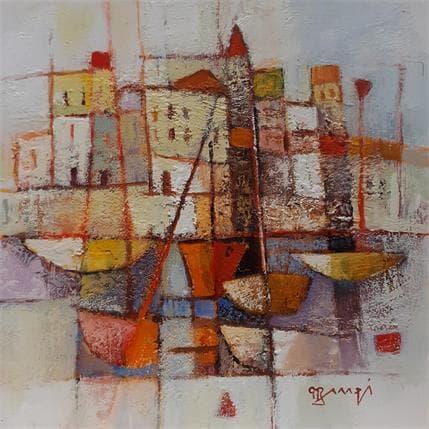 Roger Burgi MARINE ROUGE 19 x 19 cm