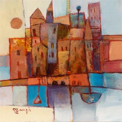 Roger Burgi VILLE FORTIFIEE 19 x 19 cm