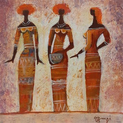 Roger Burgi TROIS FEMMES AFRICAINES 19 x 19 cm