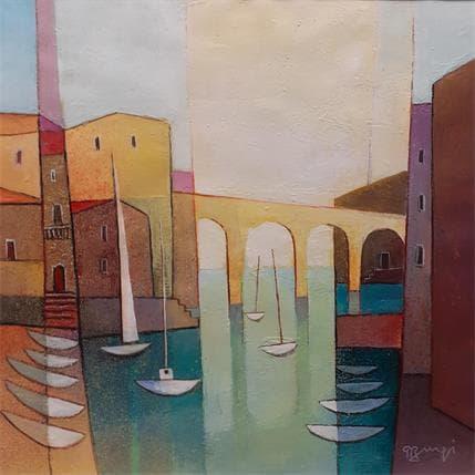 Roger Burgi LE PONT DU VALLON 36 x 36 cm