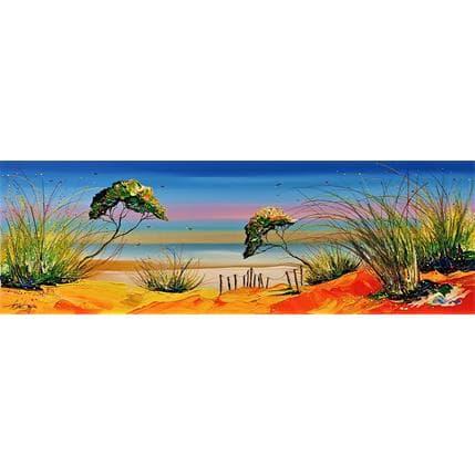 David Fonteyne Romance aux calanques 120 x 40 cm