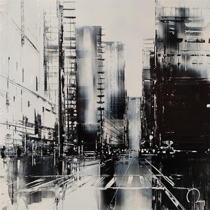 Julien Rey Noir et blanc 36 x 36 cm
