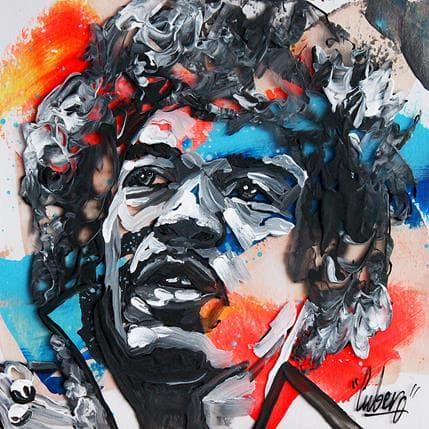 Nathalie Cubero Jimi Hendrix 97a 13 x 13 cm