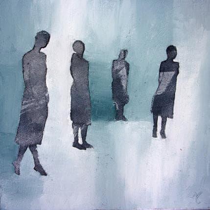 Corinne Malfreyt-Gatel L'Attente 50 x 50 cm