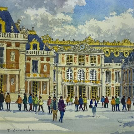 Jean-Charles Decoudun Le château de Versailles 25 x 25 cm