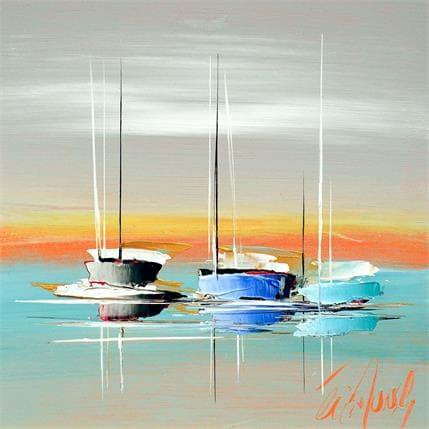 Eric Munsch Aube d'été 25 x 25 cm